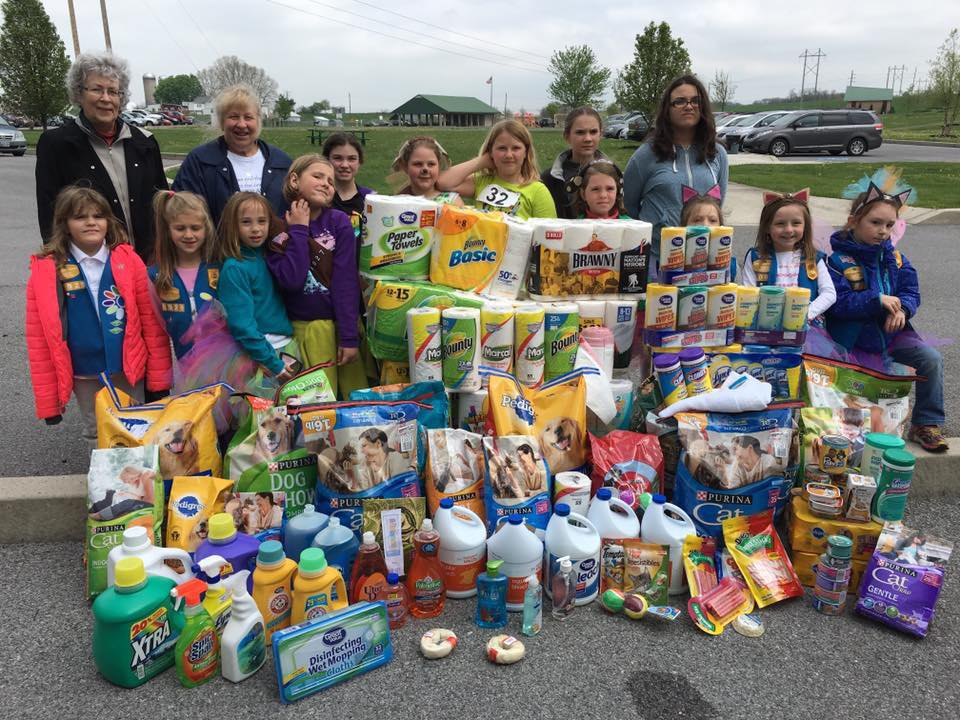 Thank you Girl Scouts!